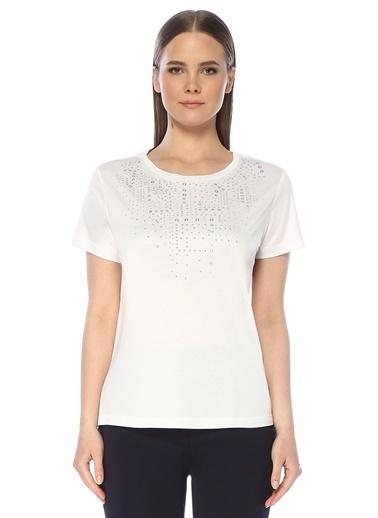 NetWork Kadın 1073507 Regular Fit Bisiklet Yaka T-shirt Beyaz